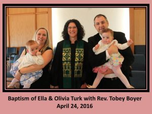 Baptism of Ella & Olivia Turk with Rev. Tobey