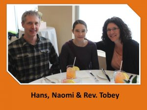 REv. Tobey with husband & daughter