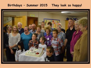 Birthdays 2015 Summer