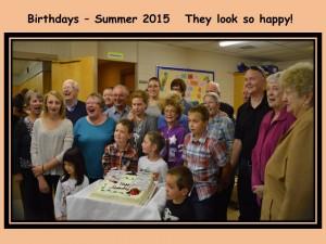 Birthdays 2015 Summer