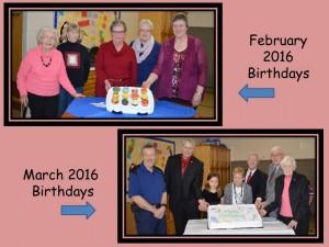 Feb & Mar Birthdays 2016